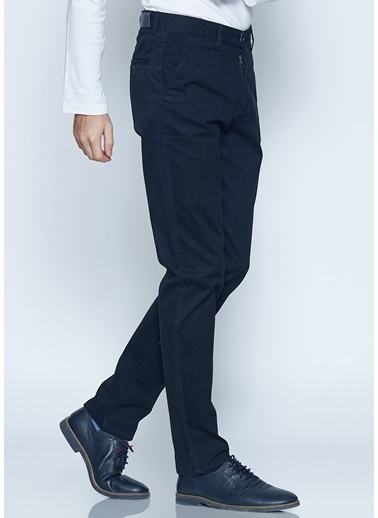 Adze Slim Fit Kanvas Pantolon Siyah